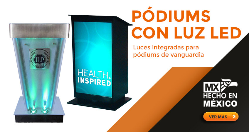 Podiums con Luz LED